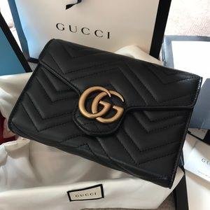 NWT 100% Authentic GG Marmont matelassé mini bag